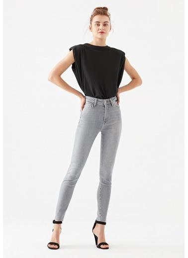 Mavi Serenay Gold Shape  Jean Pantolon Gri